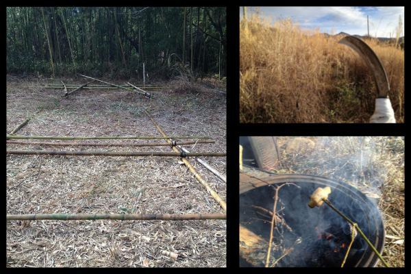 竹小屋作り ~焚き火と萱刈り~