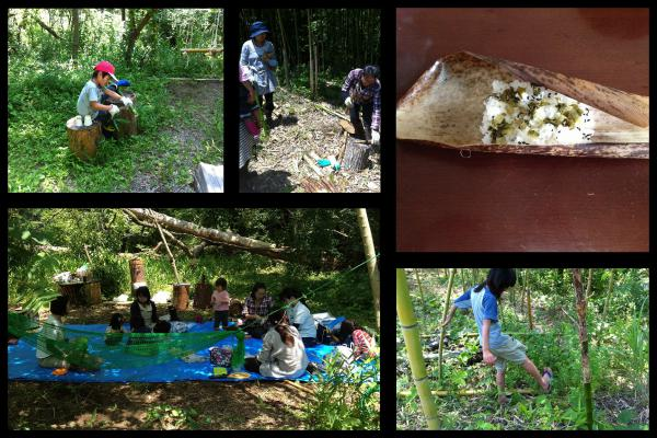 キャンプ+筍採り 2015/06/27-28