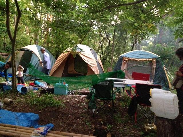 タケノコ採り+キャンプ