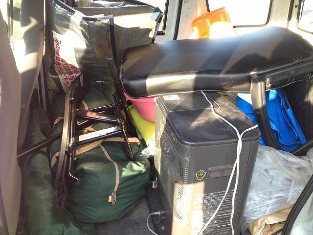 車にいっぱいのキャンプ用品たち♪