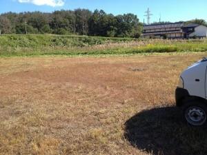 駐車場の草刈り!