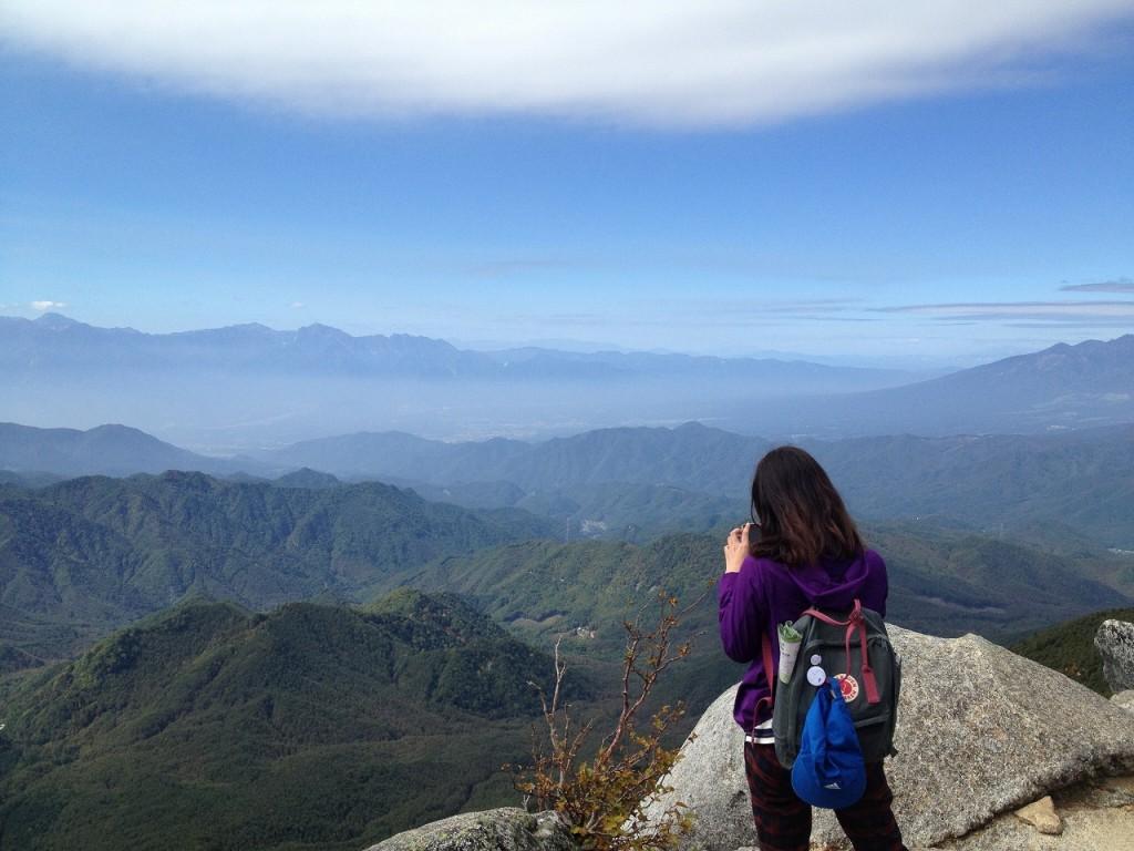 登山しながら内観することも