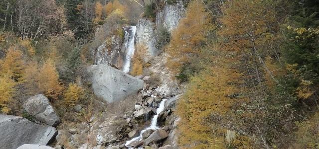 鳳凰三山を目指し、五色の滝まで、、