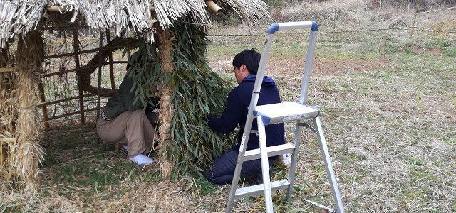 竹の柵+田舎暮らし体験