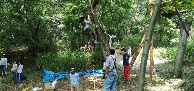 木登りイベントの様子 ~3歳~ウン歳まで?~