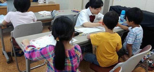 甲陵高校生による無料塾の様子 2017/08/18