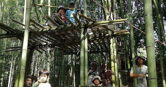 バンブータワー作り三日目 ~ついに頂上に!~