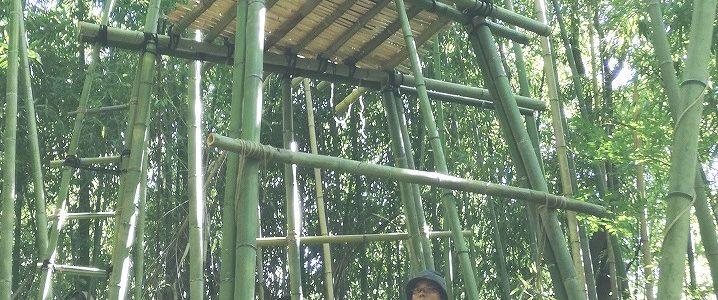 バンブータワー作り合宿の様子