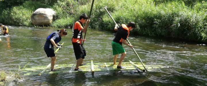 筏制作+川下り ~若者向けイベントの様子~