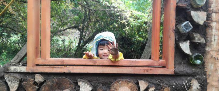 木と土の家作り 平日作業 ~屋根準備+窓枠設置~