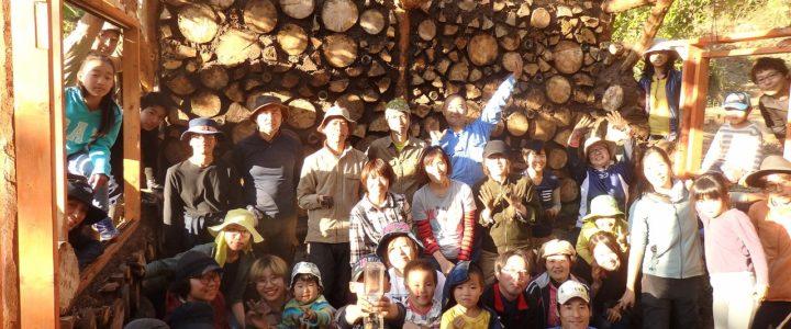 木と土の家作り(cordwood house)続き+完成内覧会