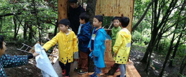 ツリーハウス制作キャンプ(プラスワン教育×ビヨンド自然塾コラボイベント)の様子