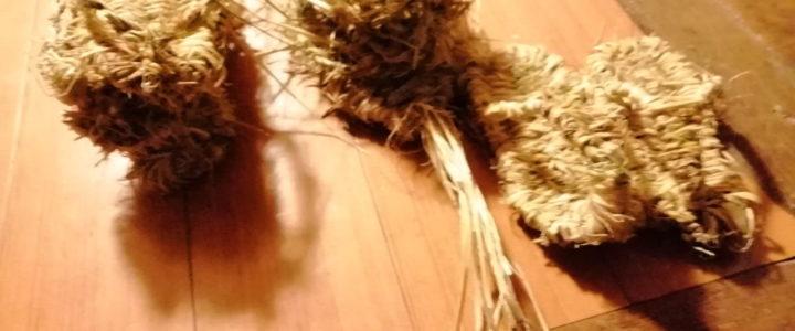 藁草履作り