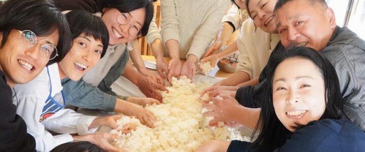 自家製お米をお友達に ~唐箕風選~