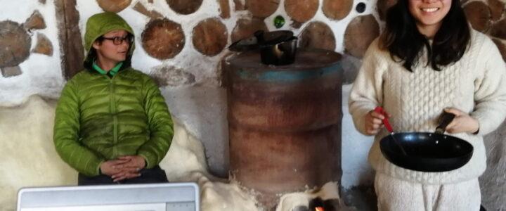 木と土の家(cordwood hosue)の温かさ実験 ~厳寒期の薪ストーブ~