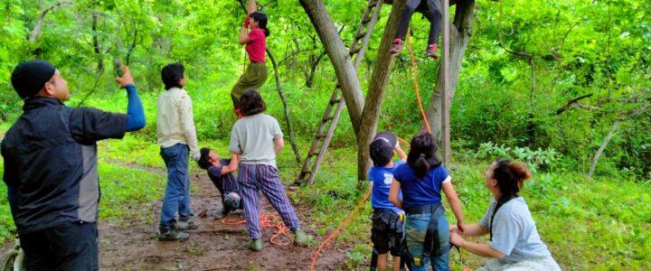 木登りイベント ~素登り、ロープクライミング、フットロック、ぶり縄~